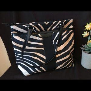 Black and Tan zebra shoulder bag